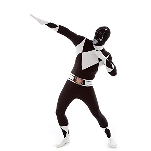 Morphsuits - Costume per Travestimento da Power Rangers, Adulto, Taglia: L, Colore: Nero
