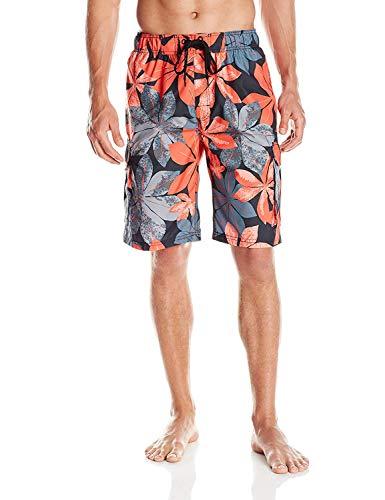 Kanu Surf Men's Legacy Swim Trunks (Regular & Extended Sizes), Pismo Black, 3X
