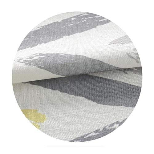 PENVEAT 2019 Herbst Ankunft Mediterranen Stil Vorhang Gelbe Drehungen Nähen Nachahmung Leinen Vorhänge für Wohnzimmer Hotel, Vorhang, B130xH210cm, Haken Top