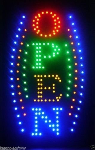 """BISON Large Vertical Animated Business LED Open Sign W. Motion On/off Switch 21"""" X 13"""""""