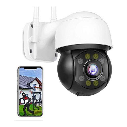 ámaras De Seguridad De La Cámara, Cámara IP PTZ HD 5MP Cámara De WiFi Inalámbrica HD CCTV Al Aire Libre, Onvif, Color De HD Visión Nocturna, Seguimiento Corporal, Alarma De Vo(Size:Camera+32G-TF-Card)
