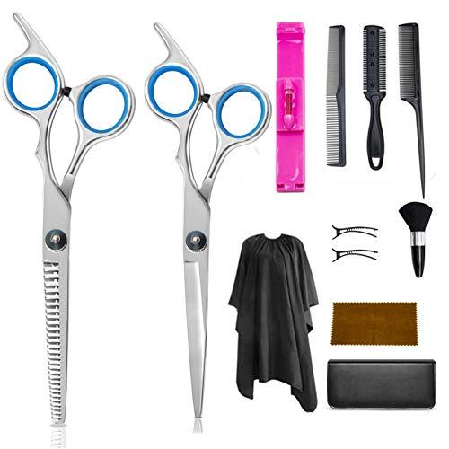Lot de 12 ciseaux de coiffure professionnels en acier inoxydable 16 cm
