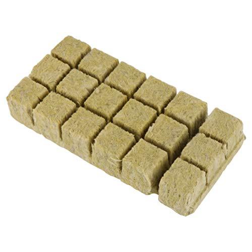 Cabilock 1. 5 Pouces Cubes de Laine de Roche Bouchons de Démarrage de Semences de Laine de Roche Culture Hydroponique Milieu de Culture Culture Du Sol Cultiver Des Feuilles de Démarrage de