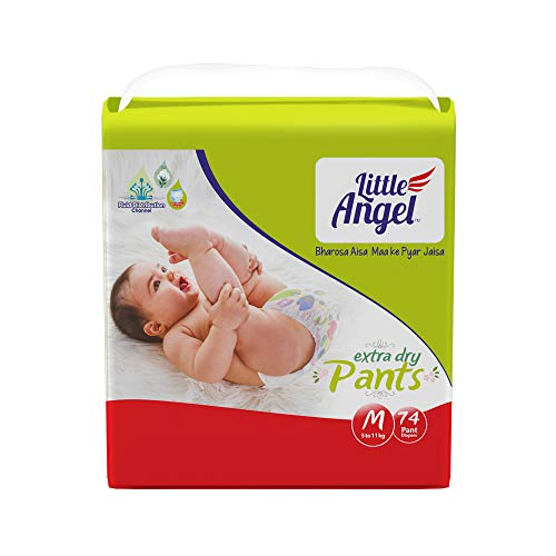 Little Angel Baby Diaper Pants, Medium (5 – 11 kg), 74 Count