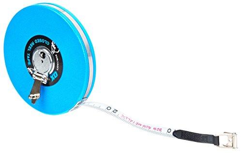 OX OX-T023603 Trade Closed Reel Measure Tape, Blue/Black, 30 m/100 f