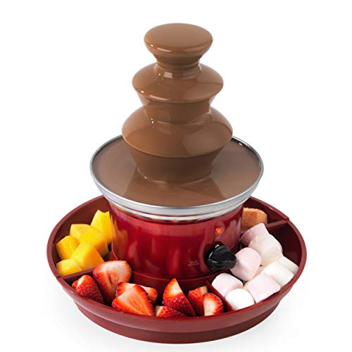Giles & Posner EK3428GVDEEU7 Chocolate Fountain with European Plug | Includes Fruit Tray and 100 Bamboo Skewers