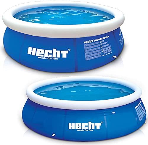 Großer HECHT Quick Up Pool Familienpool – 360 x 90 cm und 300 x 76 cm zur Auswahl – Aufblasbarer Luftring – XXL Badespaß für Groß und Klein im heimischen Garten (XL, 360 x 90 cm)