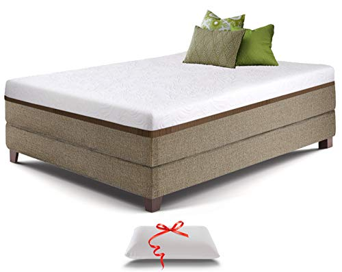Full Gel Memory Foam Mattress - Bonus Memory Foam Pillow - Comfortable &...