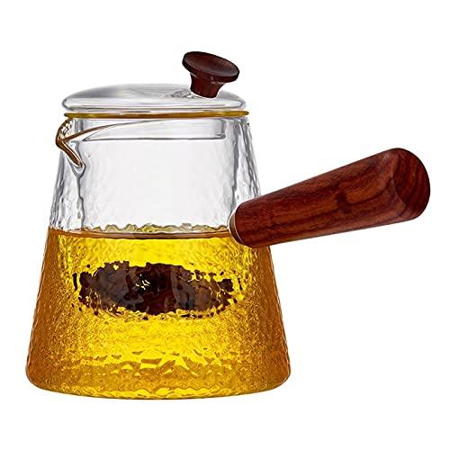 Tetera 660ml Tetera Transparente Tetera Resistente al Calor Flor de Vidrio, Taza de té de la Botella práctica Taza de té Tetera de Vidrio contenedor de Jugo para la Fiesta del té (tamaño : 660ml)