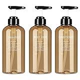 3 Stück Leere Pumpflasche Zum Befüllen 300ml/500ml Plastik Nachfüllpumpenflaschen Für Flüssige...
