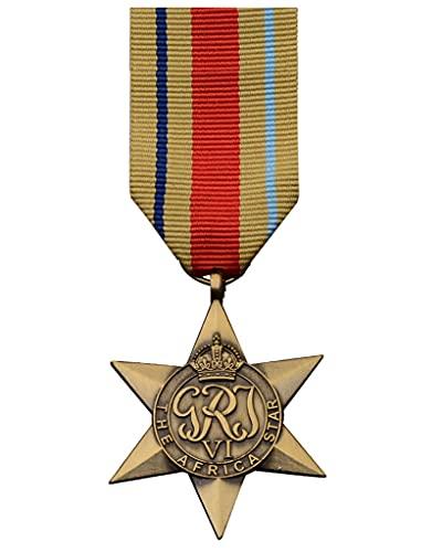 JXS Recuerdo de la Insignia de Honor de la Segunda Guerra Mundial, réplica de la Medalla de la Estrella Africana, réplica de Material de aleación 1: 1, colección de Insignias Militares