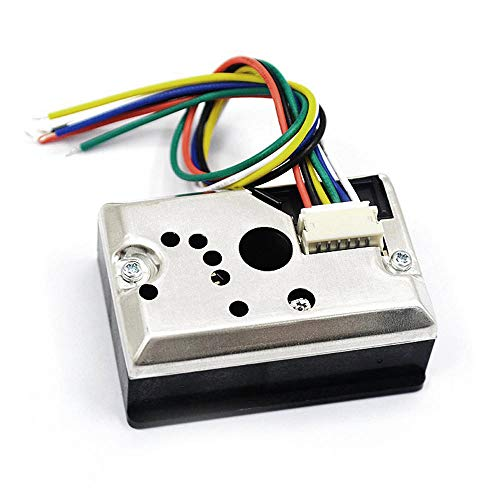 Loriver GP2Y1010AU0F Kompakter optischer Staubsensor Rauchpartikelsensor mit Kabel