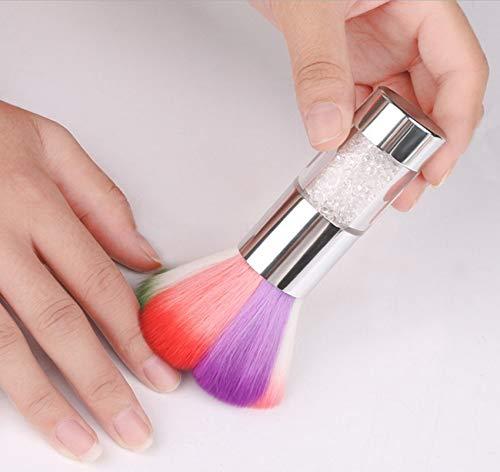 Nail Art Dust Brush Colorful Nail Brush Remover Cleaner For Acrylic & UV Nail Gel Powder Rhinestones Makeup Foundation Brushes Nail Arts Dust Cleaner Brush for Makeup or Nail Arts