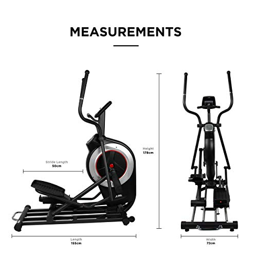 JLL CT600 PRO Elliptical Cross Trainer, 2020 Electronic Magnetic Resistance Cross Trainer For Home, Elliptical Machine, 6KG One Way Flywheel, Console Display with Heart Rate Sensor and Tablet Holder