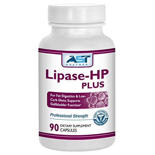Lipase-HP Plus – 90 Vegetarian Capsules - Fat Digestion Support – Keto Diet Digestive Enzyme Formula – AST Enzymes