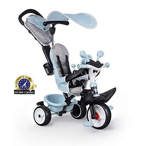 Smoby - Baby Driver Plus Blau - 3-in-1 Kinder Dreirad, mitwachsendes Multifunktionsfahrzeug mit premium Ausstattung, für Kinder ab 10 Monaten