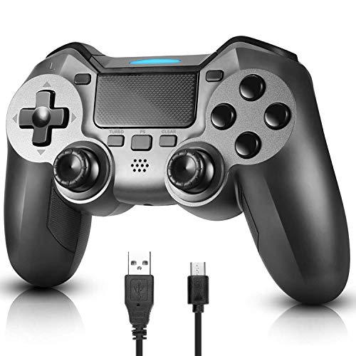 LINGSFIRE Controller Wireless per PS4, Gamepad Bluetooth per Playstation 4 Controller di Gioco Wireless Doppio Shock a Sei-Assi Joystick con TouchPad e Jack Audio