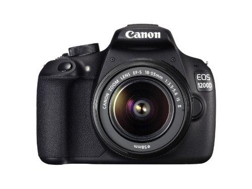 Canon EOS 1200D - Cámara réflex Digital de 18 MP (Pantalla 3', estabilizador, vídeo Full HD), Color Negro - Kit con Objetivo EF-S 18-55mm f/3.5 IS II