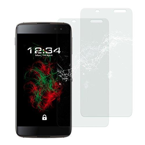 Baluum 2x Glasfolie für BlackBerry DTEK60 klare Bildschirmschutzfolie 9H Echt Glas-folie Clear Tempered Glass Screen protector Glas Durchsichtige Schutzfolie für BlackBerry DTEK60 (Glasfolie-Klar 2x)