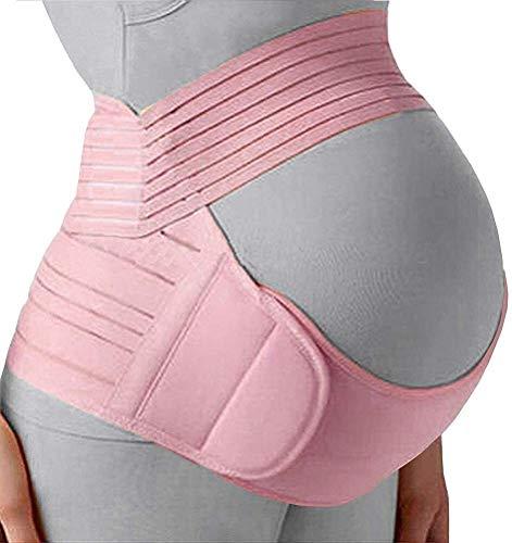 Ceinture Maternité Grossesse Ceinturon, réglable Respirant prénatale et postnatale Tummy Wrap for Les Soins de bébé et Grossesse 529 (Color : C(Pink), Size : M)