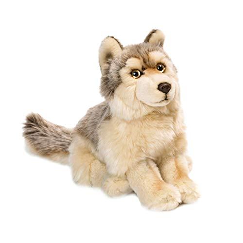 WWF WWF00357 Plüsch Wolf, realistisch gestaltetes Plüschtier, ca. 25 cm groß und wunderbar weich