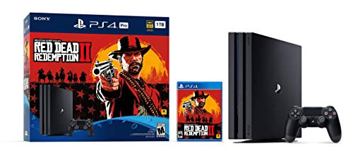 PlayStation 4 Pro 1TB Console - Red Dead Redemption 2 Bundle (Renewed)