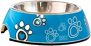 Rogz Bubble Bowl for Dog, Turquoise, Large