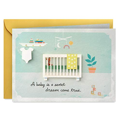 Hallmark Paper Wonder Pop Up Baby Shower Card (Sweet Dream Come True)