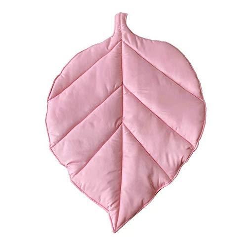 VIGAN Alfombra de algodón para bebé recién nacido con forma de hoja para jugar a gatear, alfombra para niños