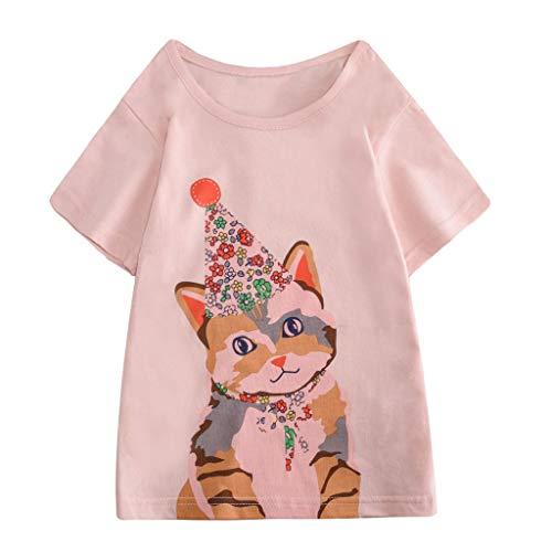 Julhold Peuter Kids Baby Jongens Meisjes Leuke Casual Kleding Korte Mouw Cartoon Losse Katoenen Tops T-Shirt Blouse 1-8 Jaar