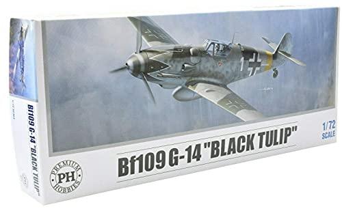 Premium Hobbies Bf 109 G-14 Black Tulip 1:72 Plastic Model Airplane Kit 127V