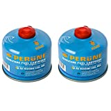 Perune Iso-Butane Camping Fuel Gas Canister All Season Mix - 230gram (2 Pack)