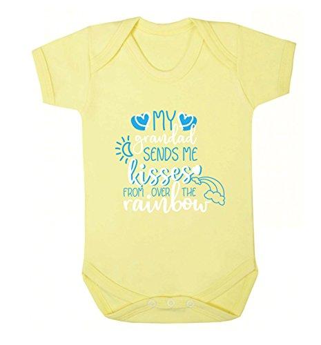 Flox Creative Baby Vest My Grandad Sends Kisses from Over The Rainbow - Jaune - M