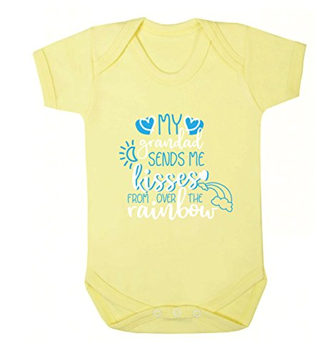 Flox Creative Baby Vest My Grandad Sends Kisses from Over The Rainbow - Jaune - M