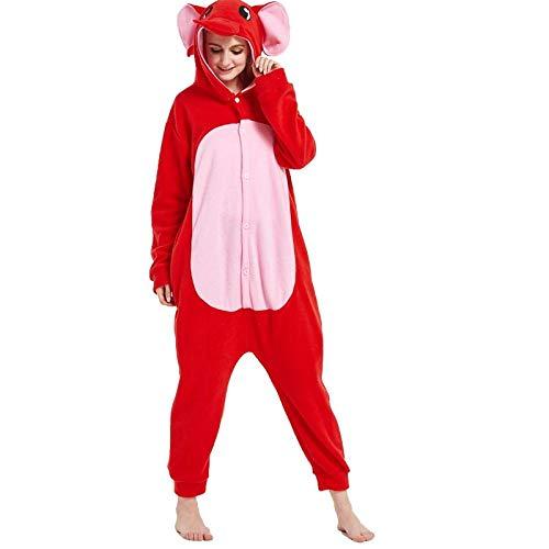 Herfst en Winter Animal Cartoon eendelige pyjama Fleece paar Thuis Service Prestaties Speel Kleding
