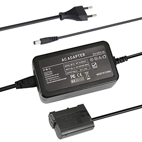 SinFoxeon EP-5B mit EH-5 Kamera AC Netzteil Netzadapter für EN-EL15 Kompatible mit Nikon D7000 D7100 D7200 D7500 D500 D610 D750 D800 D810 D850 1V1 Z5 Z6 Stromadapter