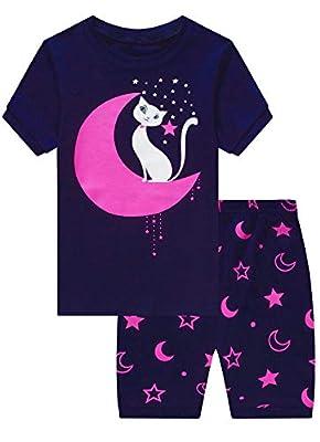 MIXIDON Niña Pijamas Unicornio Infantil Verano Ropa Chica Manga Corta(Cat2,8 Años)