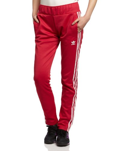 adidas Originals Europa TP Beckenbauer Trainingshose Hose Sporthose ROT, Größe:34, Farbe:Himbeere