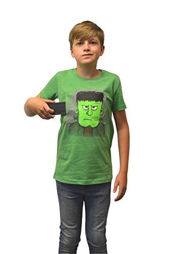 Morph DDKTFRS - Moving Eyes Frankie Frankestein Kinder T-Shirt, Größe S, 6-7 Jahre, schwarz