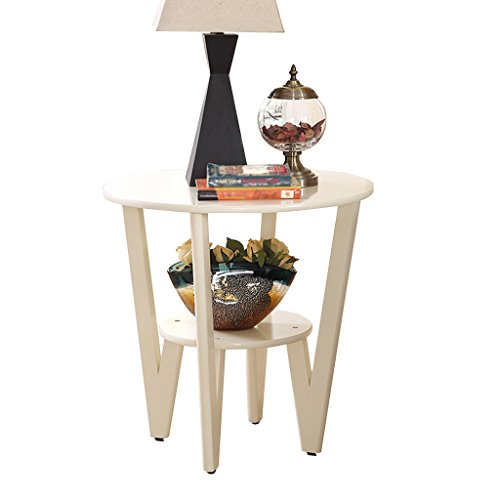 ZWD massief houten Double Flower Stand/Mini Tafel/Rack, Pot Plant Fotolijst Tafellamp, slaapkamer/woonkamer/studie, 58 * 60cm Huis