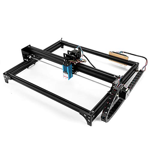 SainSmart x Genmitsu LE5040 CNC Laser-Graviermaschine für Schnittgravur & DIY-Logo Applikation, 2-Achsen, Arbeitsbereich 500mm x 400mm, Mit 5500mw Lasermodul