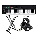 Novation Launchkey MK3 61-Key USB MIDI Keyboard Controller Bundle with Knox Studio Headphones and...