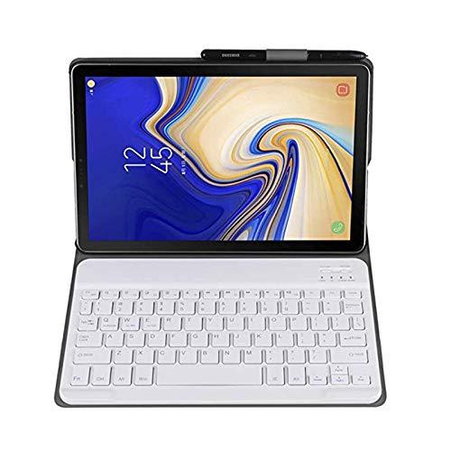 Tastatur Hülle für Samsung Galaxy Tab A7 2020 (10.4 Zoll), Ständer Schutzhülle Hülle mit magnetisch Abnehmbarer Kabellose Tastatur für Samsung Galaxy Tab, Schutzhülle mit abnehmbar Tastatur (Golden)
