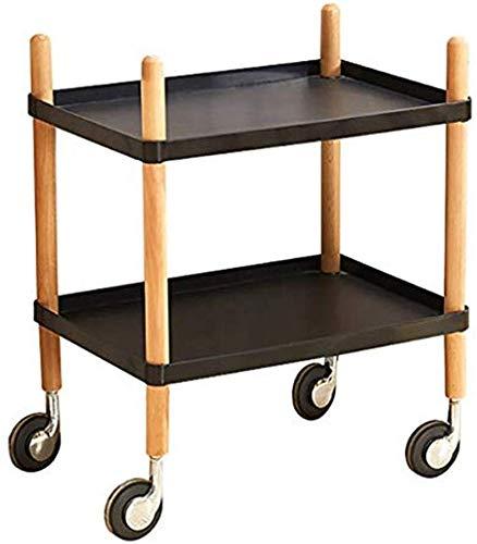 PLHMS Küchenrollwagen 2-Tier-Speicher-Karren Servierwagen Servierwagen Storage Rack Organizer für Küche, Schlafzimmer