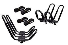 KAYAK CAR TOP CARRIER A simple, low-cost solution to carrying your kayak ITEM#: KAYAK-RK-J(2SET) CONDITION: BRAND NEW QUANTITY: 2 PAIRS This Kayak Carrier designed mounts to virtually all crossbars and load bars on the market. The carrier secures the...
