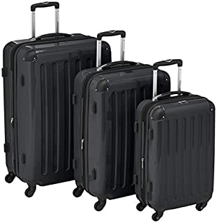 HAUPTSTADTKOFFER - Alex- Set of 3 Hard-side Luggages Trolley Suitces Expandable, (S, M & L), black (B004IKTBWG) | Amazon price tracker / tracking, Amazon price history charts, Amazon price watches, Amazon price drop alerts