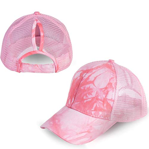 Fashion Baseball Cap Ponytail Messy Bun Trucker Plain Visor Sun Hat Unisex Adjustable Hat Strapback Cross Cap