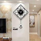 Orologio da parete a pendolo di qualità, stile moderno, funzionamento a batteria, silenzioso, al quarzo, grande orologio da parete per soggiorno, decorazione da parete