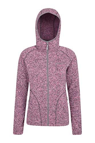 Mountain Warehouse Nevis Fleecejacke für Damen mit Reißverschluss – leichtes Sweatshirt für den Frühling, mit Taschen, atmungsaktiv – zum Spazierengehen, Wandern, Reisen Rosa 44