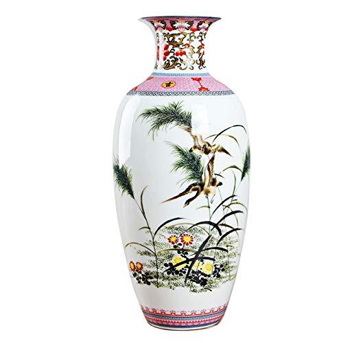 ZYG222 Antieke Vintage Eierschaal Keramische Vaas Bureau Accessoires Ambachten Roze Bloem Traditionele Porselein Chinese Vaas
